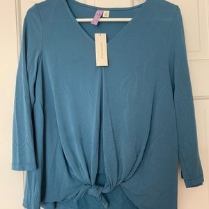 Knotted Quarter Sleeve Francesca's Collection Top
